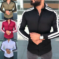 Fashion Men's Casual Luxury Stylish Slim Fit Shirt Long Sleeve Dress Shirts Tops