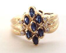 .68ctw Blue Sapphire & Diamond Ring Size 10.5 & 9.7 grams Appraisal