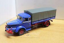 MINICHAMPS 439 069020 Modell Krupp Titan canvas truck Blue/Red 1/43 VERY RARE