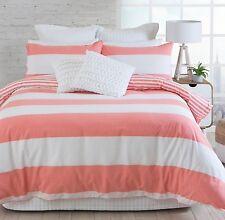 Coral Beach House Doona Duvet King Quilt Cover + 2 Pillow Cases Reversable