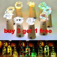 Charming Cork Shaped LED Night Light Starry Light Wine Xmas Bottle Lamp  Decor