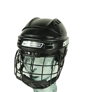 Vtg Nike Bauer NBH1500S Ice Hockey Helmet With Cage Black Small Roller Hockey