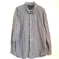 Tommy Hilfiger Men's XL Cotton Long Sleeve Shirt Striped Navy Blue X-Large