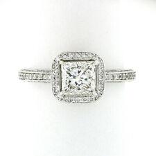 Simon G. Platinum 1.91ctw Round Diamond Covered GIA Princess Cut Engagement Ring