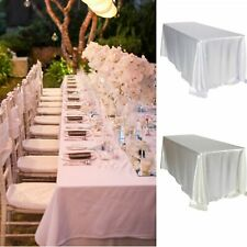 Large Rectangle Satin Tablecloth Wedding Table Cover Cloth Banquet Party Decor