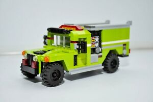 LEGO City Fire Truck Hummer SUV Rescue Lime Custom MOC