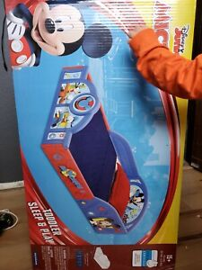Blue Mickey Mouse Toddler Bed Frame Toy Cartoon Red Kid Child Furniture Boy Girl