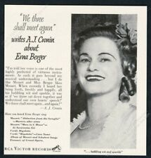 1951 Erne Berger photo Rca Victor Records vintage print ad