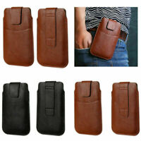 Leather Rotating Holster Belt Clip Pouch for iPhone Slim Sleeve Bag for Samsung