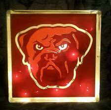 Lighted Cleveland Browns Glass Block Light~ Home Decor~Gift~Lamp