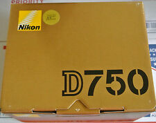 Brand New Nikon D750 Digital SLR Camera Body 24.3MP FX-format