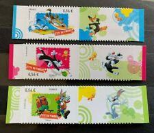 Lot timbres France 2009 neuf** YT271 à 273. Looney, Warner Fête du timbre autoad