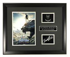 Chadwick Boseman Framed Black Panther Facsimilie Autograph