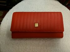 Kate Landry Wallet Checkbook Credit Card Tomato Red