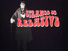 Dark Shadows: Strange is Relative Movie Release Souvenir Vampire Film T Shirt L
