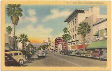 View on Main Street in Riverside CA Postcard