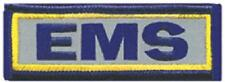EMS Emergency Medical Service Small Rectangular Patch - Reflective