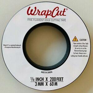 "WrapCut® Fine Filament  Edge Cuttung Tape.3mm x 60m 1/8"" x 200 FT"