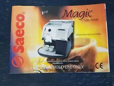 Saeco Magic de luxe   Coffee Machine Operating Instructions User Manual SUP012R