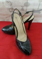 Peter Kaiser Ladies Shoes Size 4 UK Black White Leather Sling Back Platform BNIB