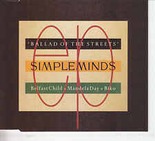 SIMPLE MINDS BALLAD OF THE STREETS MAXI CD SINGLE