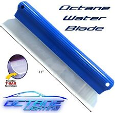 "11"" Octane Silicone One Pass Waterblade T-Bar Squeegee Car Wash Dry Water Blade"