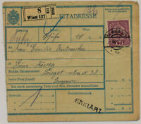Österreich 1918 90h BEGLEITADRESSE! WELS nach KÖSZEG (Güns) Ungarn