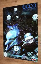 Dreamcast Sega Ecco the Dolphin Defender of the Future / Rayman 2 Poster 81x58cm