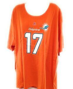 Womens NFL Majestic Miami Dolphins Ryan Tannehill #17 Orange Tee T-Shirt