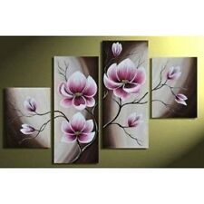 Beautiful Purple Flowers Canvas Print Wall Art Abstract Floral Picture Framed