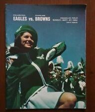 1964 Philadelphia Eagles vs Cleveland Browns Football Game Program Jim Brown NFL