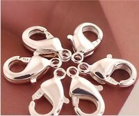 925 Sterling Silver Lobster Claw Trigger Clasp Jewelry Finding 11mm