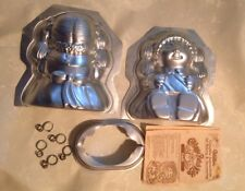 Wilton 3D Cabbage Patch Kid - CPK - Doll stand up cake pan mold/Instructions A5