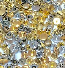 25 Watch Crowns Brass Silver parts Gears movements art steampunk vintage old
