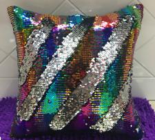 "16""Magic Reversible Mermaid Pillow Case Sequin Glitter Sofa Cushion Cover Touch"