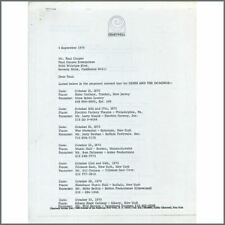 Eric Clapton 1970 Derek And Dominos Proposed Tour Letter (USA)