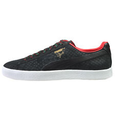 Puma Clyde Mens 36263101 Black High Risk Red Athletic Shoes Sneakers Size 10.5