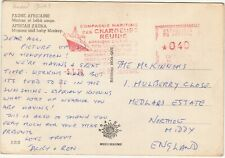 Senegal: 'Mamma and Baby Monkey' postcard; Compagnie Maritime-Northolt, 1970