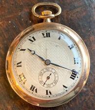 Old 9ct Rose Gold Gents Gold Dress Pocket Watch