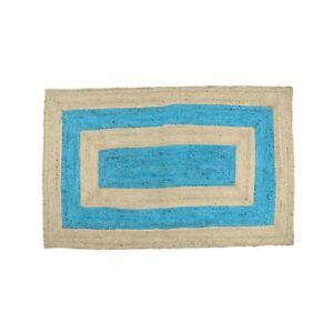 Natural Jute Rug Dining Room Area Rugs Bedroom Mat Throw Handmade Floor Carpet