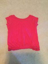 GAP Pink Short Sleeve Blouse Size XL Keyhole Vneck Back