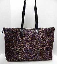 Coach Leopard Purple Print Nylon Duffle Travel Carry-on Tote Bag