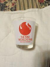 Shot glass THE 1982 WORLD'S FAIR (Clear) VINTAGE  Shotglass KNOXVILLE,TN.