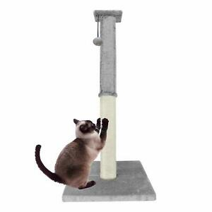 Premium Deluxe Interactive Cat Scratching Sisal Posts Tree Exerciser for Kitty