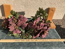 Vintage Mauve Wine Set 3 Poinsettia Bush 16 Inches Tall Home Interiors Gifts