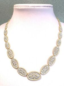 "GENESI 18K CLAD 20"" GRADUATED WHITE TOPAZ NECKLACE 40.0g (M1105-88)"