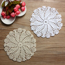 16cm Cotton Yarn Hand Crochet Lace Doily Placemat Round Round Table Cup Mat