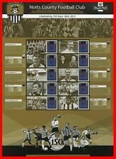 2012 150 Years of Notts County Football Club Commemorative Sheet. Pack No Cs19.