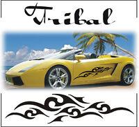 2x TRIBAL STRIPES GRAPHICS CAR VINYL STICKERS DECALS BODY PANEL WINDOW ADHESIVE
