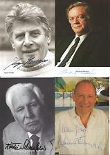 4 Autogramme alle + Jürgen Scheller Friedrich Schütter Hanno Thurau Schönfelder